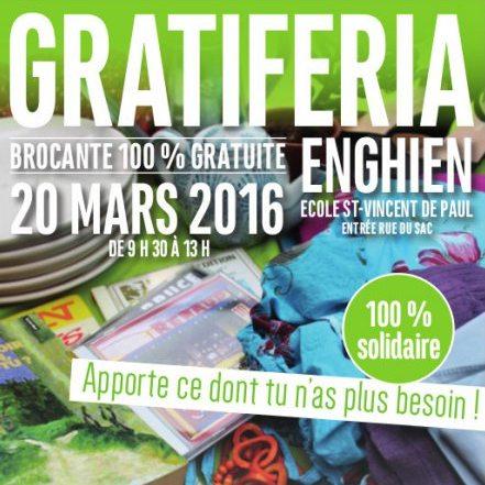 20/3 : 1re Gratiferia à Enghien!